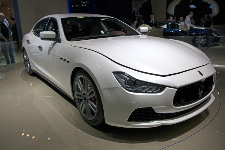 iaa: FRANKFURT - SEPT 16  Maserati Ghibli shown at the 65th IAA  Internationale Automobil Ausstellung  on September 16, 2013 in Frankfurt, Germany  Editorial