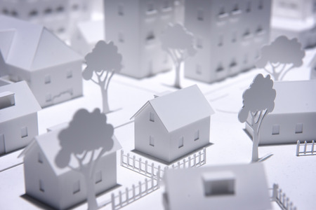 Plastic White Model Houses Stock Photo - 22509320