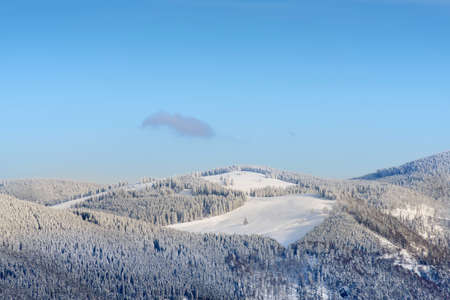 Winter Landscape With Snowy Mountains On Feldberg In The Black-Forest photo