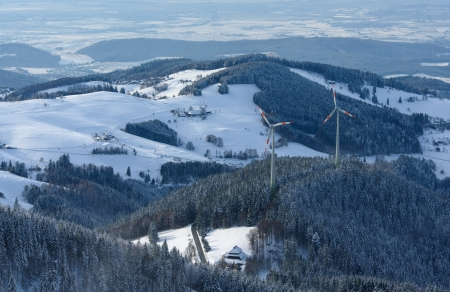 Winter Landscape With Snowy Mountains In The Black-Forest photo