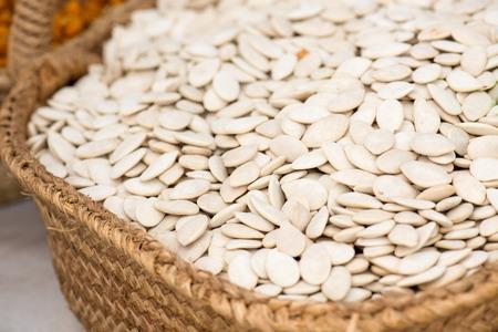 pumpkin seeds: Pumpkin Seeds On The Spanish Market