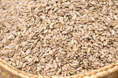 sunflower seeds: Peeled Sunflower Seeds On The Spanish Market