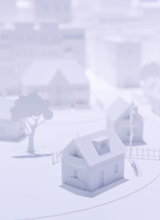 Plastic White Model Houses photo