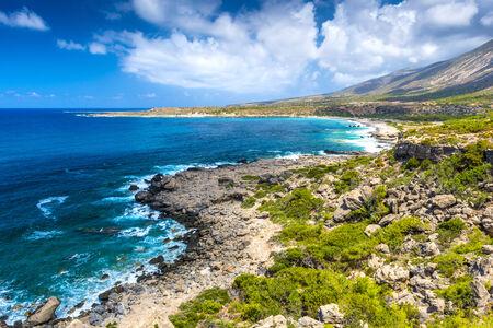 Mediterranean Sea And Rocky Coast Of Crete, Greece photo