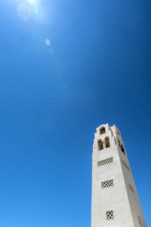 White Church in Oia in Santorini, Greece photo