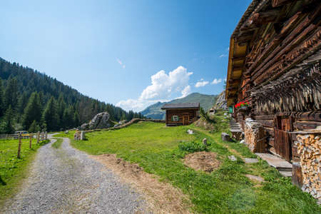 alp: Swiss Chalet In The Mountains of The Alps In Switzerland