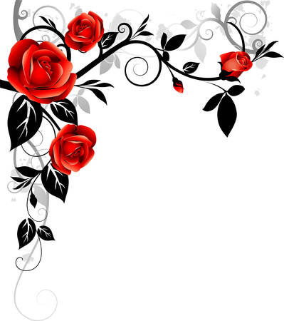 roses pattern: Ornament with roses Illustration