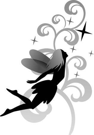 Fairy on floral background 版權商用圖片 - 6263561