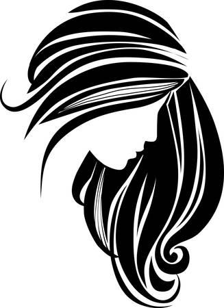 髪のアイコン  イラスト・ベクター素材