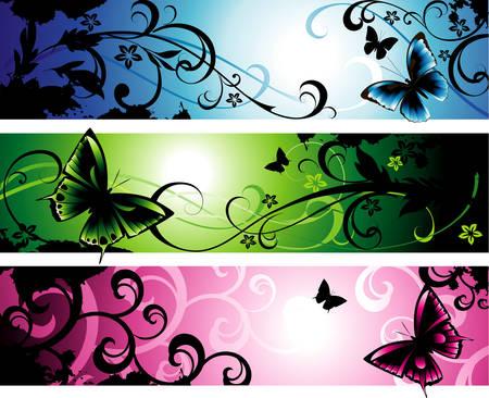 Fantasy banners Ilustração