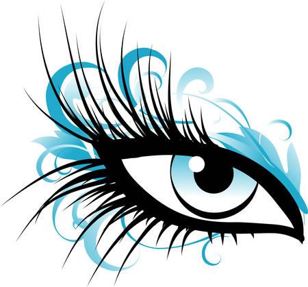 yeux maquill�: Oeil f�minin Illustration