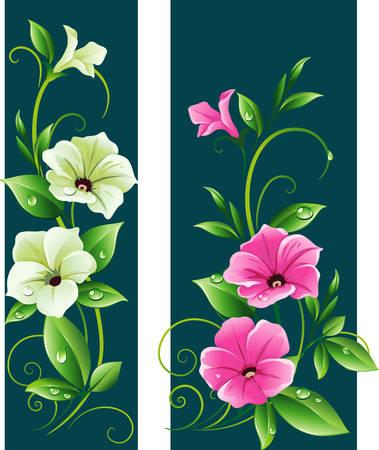 vertical garden: Floral banner