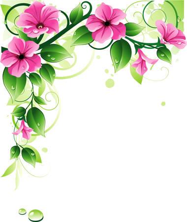 green swirl: Spring background