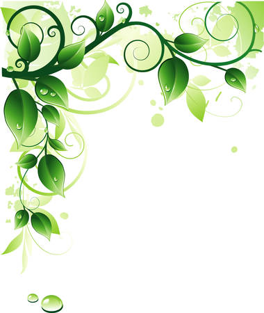 twigs: Green background Illustration