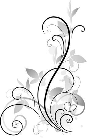 esquineros florales: ornamento