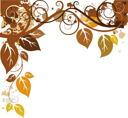Diseño de otoño  Ilustración de vector