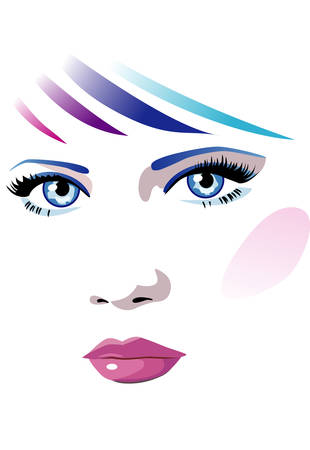 yeux maquill�:  visage
