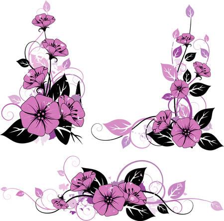 nosegay: Floral elemebts Illustration