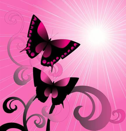Pink design Vector