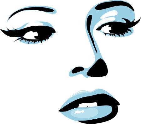 Female face 向量圖像