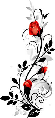装飾的なバラ
