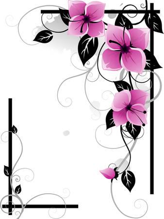 splash page: Floral frame