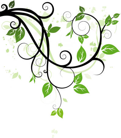 leafage: Ornament with leaves Illustration