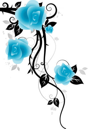 rose bush: Ornament with roses Illustration