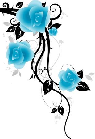 Ornamento con rose