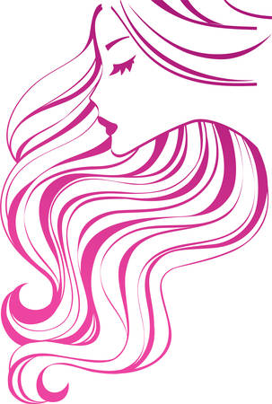 cosmetologies: Girl with long hair Illustration