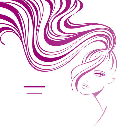 salon hair: Female background Illustration