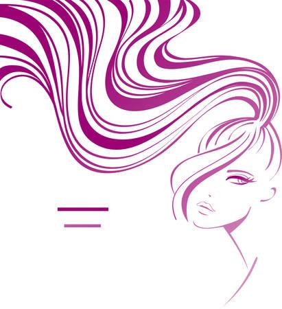 long hair woman: Fondo femenino  Vectores