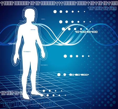 Computer diagnostic Иллюстрация