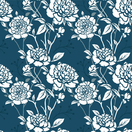 Seamles pattern with flowers