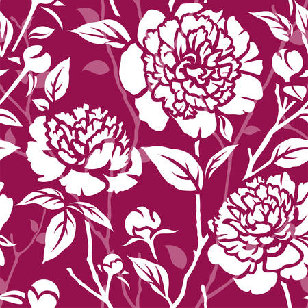 Seamless pattern with peonies Vectores