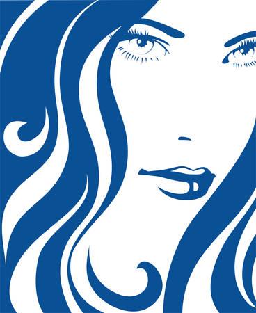 抽象的な女性のアイコン