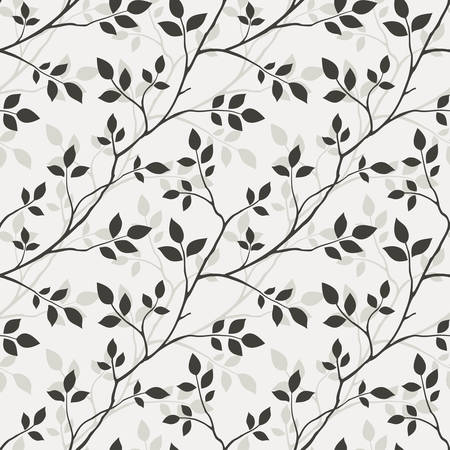 Wallpaper with leaves Vector