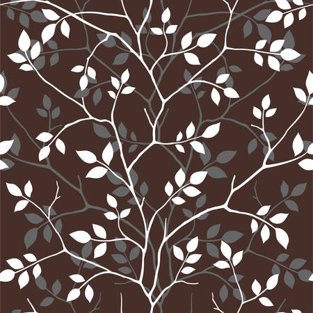 Pattern with leaves Stock Vector - 8789805