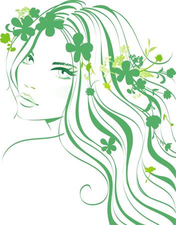 cosmetologies: Floral girl Illustration