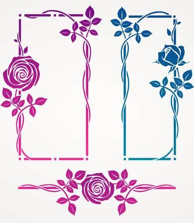 różaniec: Zestaw ozdobnych ramek