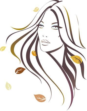 Autumn girl 向量圖像