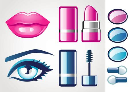cosmetologies: Beauty icon (lip and eye)