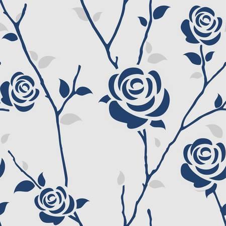 Seamless pattern con le rose Vettoriali