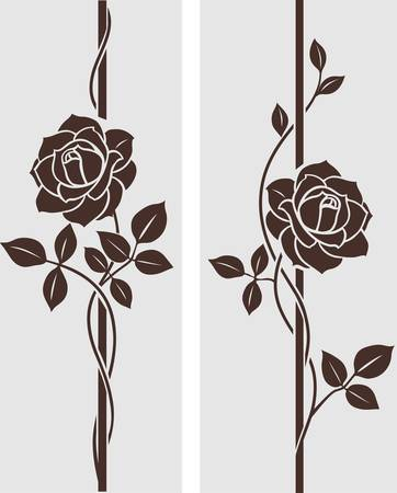 róża: Róże dekoracyjny Ilustracja
