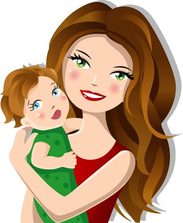 Mother with baby Vector