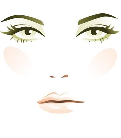 Woman face Vectores