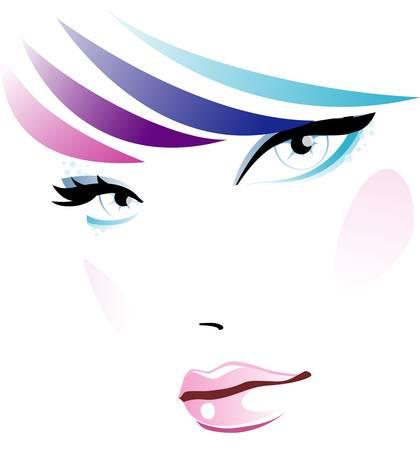 Face female Stock Vector - 14582387