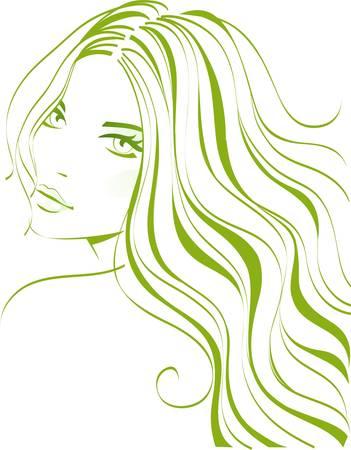 女の子の美しさ  イラスト・ベクター素材