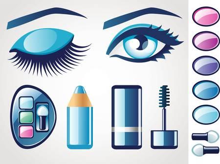 glam: Eye icons  Illustration