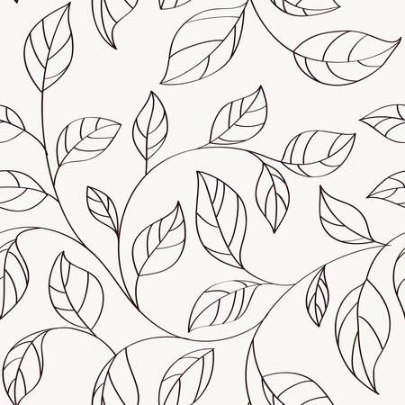 葉とシームレスなパターン